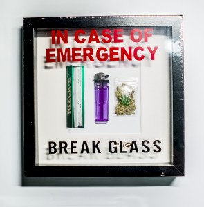 "Ramka IN CASE OF EMERGENCY ""WEED"""
